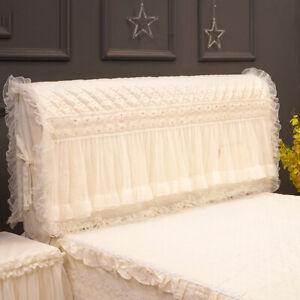 Elegant Romantic bed headboard cover decorative Ruffle lace cotton cushion cover