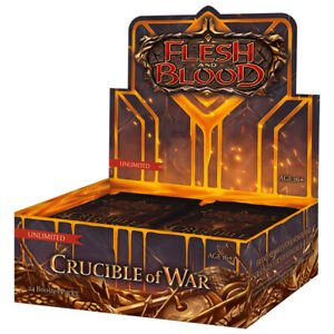 Flesh & Blood Crucible of War Unlimited Edition Booster Box NEW