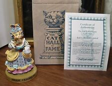"""THE CAT HALL OF FAME """"MARIE CATOINETTE"""" WHIMSICAL FIGURINE by ERTL MINT COA"""