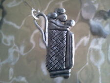 Lets Go Play 18.P.G.A. Sports Jewelry 1 Golf Bag Pewter Zipper Pull All New