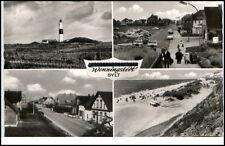 Wenningstedt Insel Sylt Postkarte ~1950/60 Leuchtturm Strand Straßenansicht u.a.