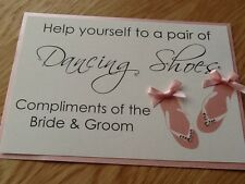 Handmade Personalised Flip Flop Dancing Shoes Basket Sign Many colours avail