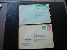 ALLEMGNE - 2 enveloppes 1951 (cy12) germany