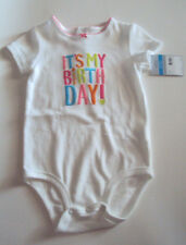 Toddler Girls Carters Brand White It's My Birthday Onesis Size 24 Months