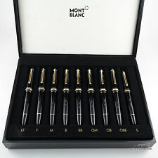 Montblanc Meisterstuck 9 Fountain Pen Tester Nib Selection Set