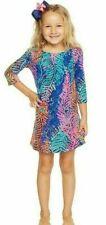 Lilly Pulitzer Girls Charlene Dress Bright Navy Electric Feel - Size XL (12-14)
