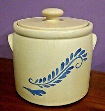 "Vintage McCoy Cookie Jar/Cannister &Lid Bluefield #265 Ceramic USA  7.75""H X 8""W"