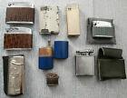 LOTTO 9 ACCENDINI MISTI BENZINA GAS DIVERSI PAESI E ANNI vintage lighters -P1