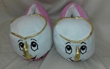 "DISNEY - Beauty And The Beast Chips Teacup Slippers Sole 10""X4"" Washed & Clean"