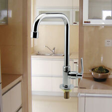 Floor Mount Single Hole Kitchen Wash Basin Faucet Mixer Water Taps
