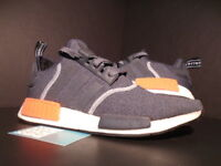 ADIDAS NMD R1 DARK GREY SEMI SOLAR RED ORANGE WHITE WOOL S31510 ULTRA BOOST 10