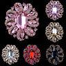 Fashion Lady Crystal Rhinestone Wedding Bouquet Flower Brooch Pin Bridal Jewelry