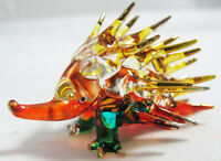 Lovely Porcupine hand blown Colored glass figurine for Decoration