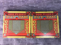 Vintage Odd Penny Put & Take Gambling Lotto 1¢ 2¢ 3¢ 4¢ 5¢ Punch Board Lot Of 2