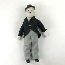 "Vintage Oliver Hardy Laural and Hardy Doll Porcelain Hands Head Feet 18"" Long"