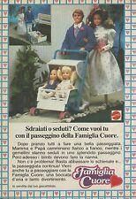 X2414 Famiglia Cuore - Passeggino - Pubblicità 1986 - Advertising