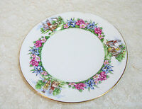 "Evangeline's Acadian Gardens, Crown Staffordshire, 8 1/2""  Plate"