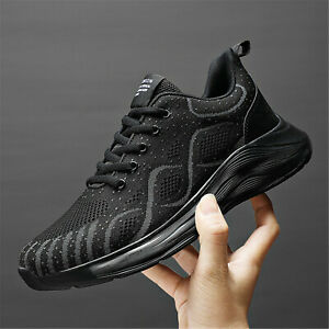 Men's Non Slip Running Sports Shoes Mesh Breathable Fashion Tennis Trainers