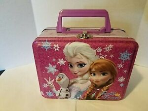 Disney Frozen Family Forever Anna Elsa Princess Tin Lunch Box Container