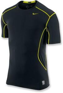 Nike Pro Combat Black/Neon Yellow Men M Shirt