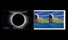 Faroer 2015   Solar Eclips postzegelboekje 2    postfris/mnh