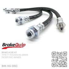 BRAKEQUIP BRAKE HOSE KIT [HOLDEN HG UTE/VAN/SEDAN/WAGON/MONARO/GTS DISC/DRUM]