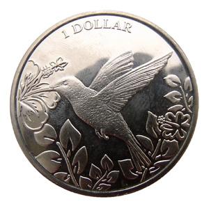 BRITISH VIRGIN ISLANDS 1 DOLLAR 2017 BIRD HUMMINGBIRD 39mm
