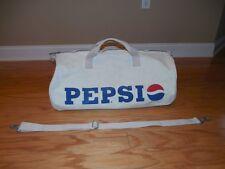 Vintage 90's PEPSI Cola Cloth Canvas Gym Beach Tote BAG w/ Strap XL Red Wh Blue
