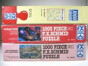 F.X. Schmid 1000 Piece Jigsaw Puzzle (lot of 3) san francisco   Have a Nice Day