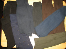 mens dress casual cotton crew socks 10 pairs sock size 10-13 colors ribbed