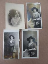 PHOTOGRAPH LADY SPINNING with Cap & APRON +LADIES IN HATS