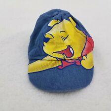 Winnie The Pooh Hat Newborn Baby Kids Denim Jean Cap Disney Blue Yellow