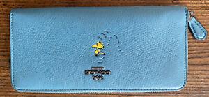 blue woodstock coach wallet Snoopy Peanuts