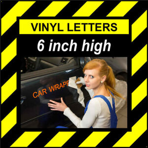 7 Characters 6 inch 152mm high pre-spaced stick on vinyl letters & numbers