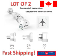 2 - Universal Electrical Plug Adapter Travel Socket Converter Outlet All in On