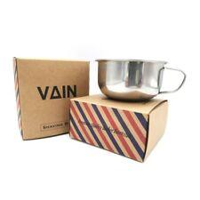 VAIN - Shaving Bowl Stainless Steel Cream Soap Bowl Shaving Mug - With Handle