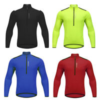 Men's Long Sleeve Cycling Jersey Half Zipper Bike Bicycle Sports Breathable Tops