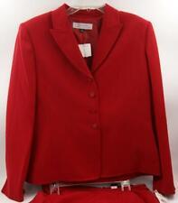 Tahari by Arthur S. Levine Women's Skirt Suit Red Long Sleeve Sz 12 M **NEW**