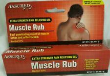 Muscle Rub Pain Relief Gel Extra Strength Neck Shoulder Arthritis Assured 1.5 oz