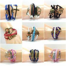 Handmade Alloy Costume Bracelets without Stone