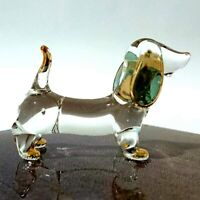 Hand Blown Glass Dachshund Figurine