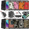 For Samsung J3 Emerge / Sol 2, Shock Holster Case Heavy Duty Hybrid Shell Case