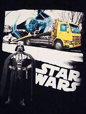 Star Wars Darth Vader TIE-Fighter Death Star Tow Truck Souvenir T Shirt M