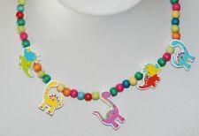 Tatiri Dinosaur wooden bead stretch necklace and bracelet NEW