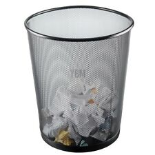 Ybmhome Steel Mesh Round Open Top Waste Basket Bin Trash Can Office Home 2484
