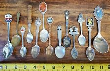 Vintage Silver Tone Spoon Lot of 13 Pewter Silver Plate Chromium Other Metals