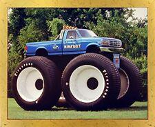 1993 Ford Racing Bigfoot Monster Truck Golden Framed Wall Art Print Picture