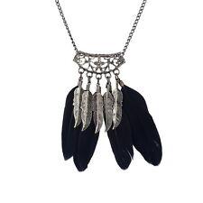 FEATHER TASSEL PENDANT NECKLACE Jewellery Gift Idea Boho Trbal Bohemian Gypsy