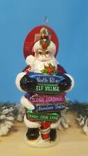"""Christopher Radko """"Show Us The Way Santa"""" New with the tags"""