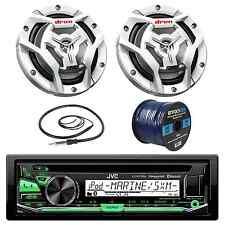 "JVC KDR97MBS Marine CD Player, 2x 300-W 6.5"" Speaker, Radio Antenna, 50Ft Wire"